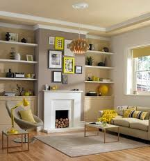 Living Room Ideasliving Shelving Ideas Light Design Furniture Wooden Stained Neutral With Yellow