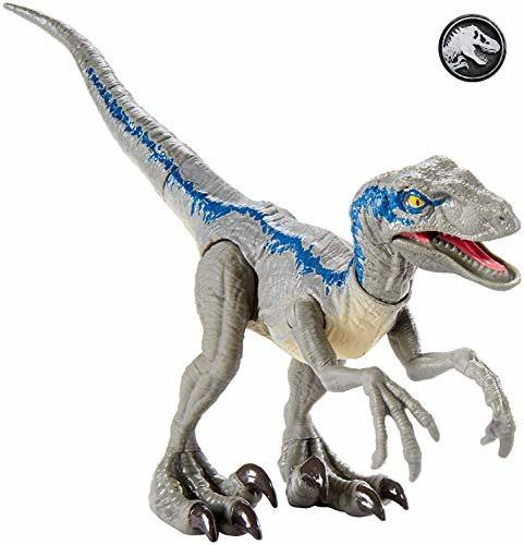 Jurassic World Savage Strike Velociraptor Figure - Blue