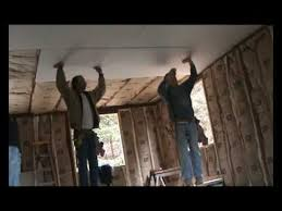 Hanging Drywall On Ceiling Or Walls First by Drywallers Hang Drywall Ceiling Lid Youtube