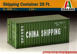 100 Shipping Container Model ITALERI IT3888 SHIPPING CONTAINER KIT 124 MODELLINO MODEL Kit CamionScala 124