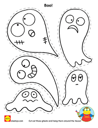 Cut And Color Ghosts Printable