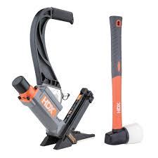 Wood Floor Nailer Gun by Hdx Pneumatic 2 In 1 16 Gauge Flooring Nailer With Staples