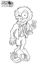 Dibujos Para Colorear Zombies Contra Plantas Pagina Para Colorear
