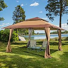 Amazon Mosaic 13 x 13 Pop Up Gazebo Canopy Black