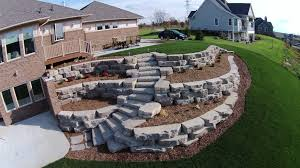 Retaining Walls: Michigan Landscaping Company Retaing Wall Designs Minneapolis Hardscaping Backyard Landscaping Gardening With Retainer Walls Whats New At Blue Tree Retaing Wall Ideas Photo 4 Design Your Home Pittsburgh Contractor Complete Overhaul In East Olympia Ajb Download Ideas Garden Med Art Home Posters How To Build A Cinder Block With Rebar Express And Modular Rhapes Sloping Newest