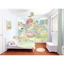 papier peint chambre bébé walltastic papier peint chambre bébé la ferme 243x304cm acaza