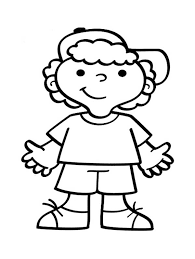 Little People A Boy Wearing Hat Coloring Pages