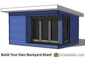 Saltbox Shed Plans 12x16 by 12x16 Modern Shed Plans Build Your Backyard Office Space