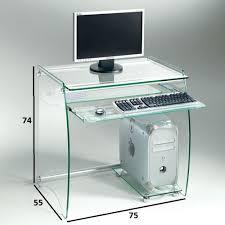 bureau ordinateur en verre bureaux meubles et rangements bureau en verre transparent zani