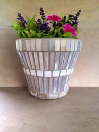 Mosaic Flower Pot Garden Container Outdoor Patio Planter Indoor Plant Storage
