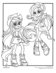 Coloring Pages Applejack And Rainbow Dash My Little Pony Rocks