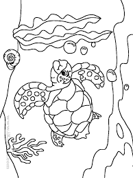 Sea Animal Coloring Pages Printable Free Animals Book For 6682
