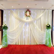 Wedding Decoration 1510M Silk Satin Fabric Birthday Party Background DIY Curtain In Hair Clips Pins From