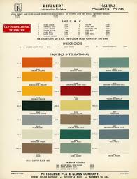 100 Chalks Truck Parts 1964 1964 Standard Colors Color Charts Old International