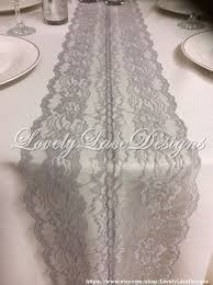 GREY Lace Table Runner X Wide Overlay Wedding Decor Tabletop Weddings Etsy Finds Summer Trends By LovelyLaceDesigns On