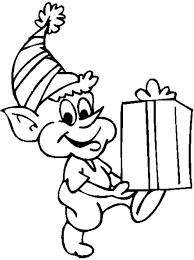 Christmas Coloring Pages Elf