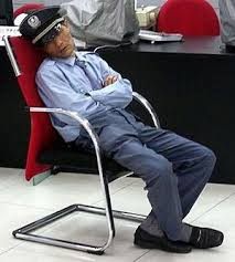 Sleeping while on duty