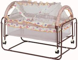 Hot Sale Simple Iron Frame Baby Bed Baby Crib Swing Bed With