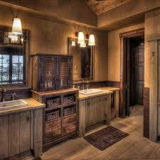 small rustic double vanity design new lighting bathrooms with
