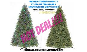 5 Ft Pre Lit Multicolor Christmas Tree by Martha Stewart Living 7 5 Ft Pre Lit Pine Christmas Tree 69 Reg 200
