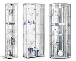 home white glass display cabinet single corner display