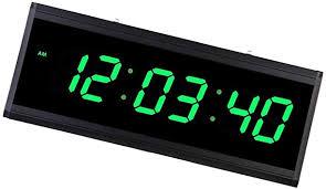 homyl große led digital wanduhr wohnzimmeruhr mit nachtmodus 24 stunden anzeige grün