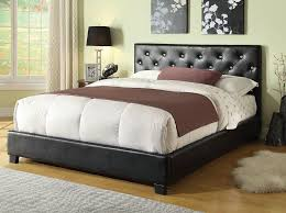 Black Leather Headboard Bed by Black Leather Headboard Queen 7 Outstanding For Leather Bedroom