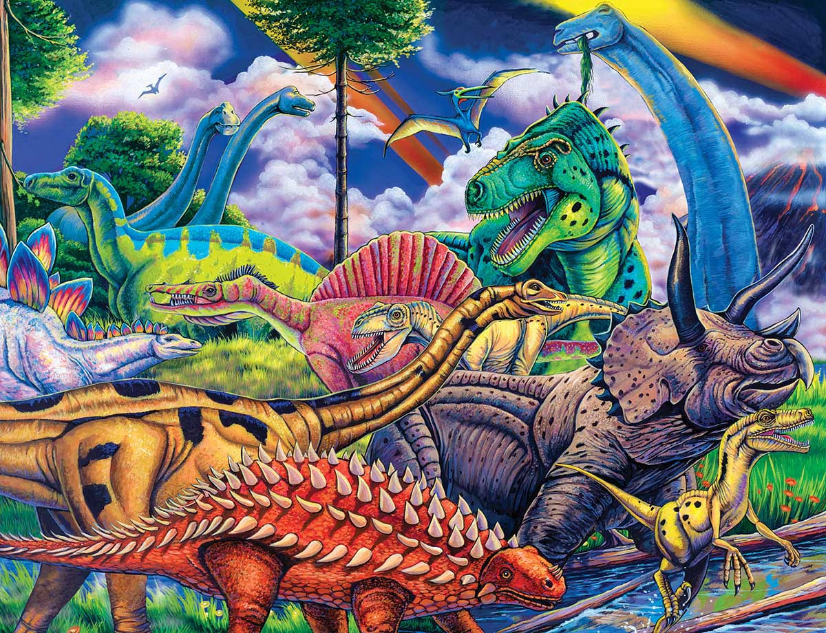 Masterpieces Animal Planet - Dinosaur Friends 100pc Puzzle