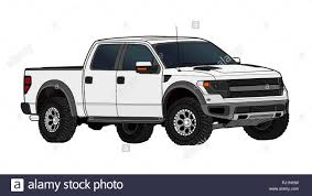 100 White Pick Up Truck Up Truck Vector Template Isolated On White Stock Vector Art