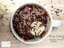 dessert rapide chocolat banane mug cake chocolat banane coco