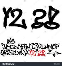 100 Grafitti Y Spray Graffiti Tagging Font Letters Stock Vector Royalty Free
