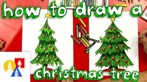 Best Type Of Christmas Tree by How To Draw A Christmas Tree Youtube