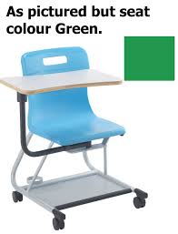 Titan Teach T300 Chair With Wrinting Tablet Age13-Adult Years Green MIN  ORDER 6