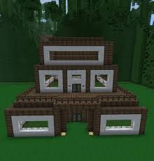 100 Modern Wooden Houses Modern Wooden House Minecraft Project