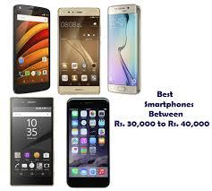 Smartphones Between Rs 30 000 to Rs 40 000