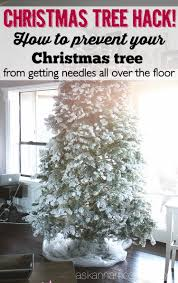 Plastic Wrap Your Christmas Tree by Christmas Tree Clean Up A Cleaning Hack Ask Anna