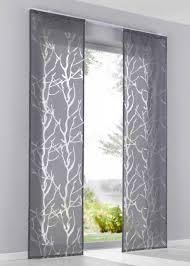 modern und frisch grau klettschiene gardinen