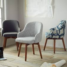 i like these saddle office chairs from west elm possibly one