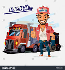 100 Truck Driver Pictures Big Character Design Stock Vector