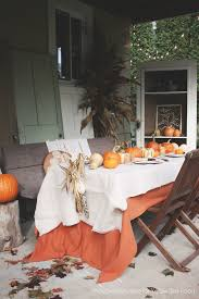 Gorgeous Outdoor Patio Thanksgiving Table Great Ideas For Setting Your