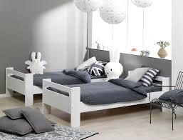 chambre avec lit superposé lit superposé enfant blanc 90x190 avec 2 matelas chambrekids