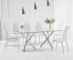 Eloise 180cm Glass Dining Table With Calgary Chairs