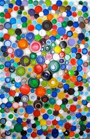 DIY Plastic Bottle Cap Art Mosaic