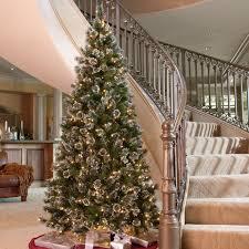 75 Flocked Slim Christmas Tree by Glittery Pine Slim Pre Lit Christmas Tree Hayneedle