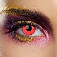 EDIT Daily Bloody Red Single Use Block Colour Contact Lenses Red