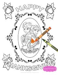 Frozen Thanksgiving Coloring Pages