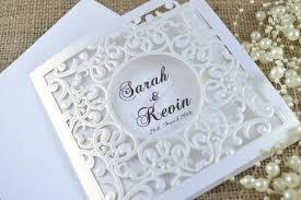 Laser Cut Wedding Invitation White