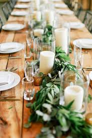 Gold Leaf Table Runner Singular Greenery Decor Wedding Centerpieces Best Garland Ideas On