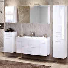 komplett badezimmermöbel set hochglanz waschtisch led
