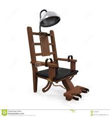 chaise lectrique chaise électrique d isolement illustration stock illustration du